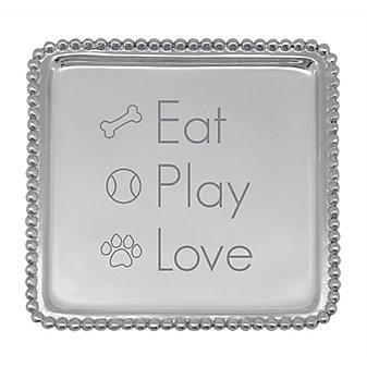 mariposa eat play love cocktail napkin tray