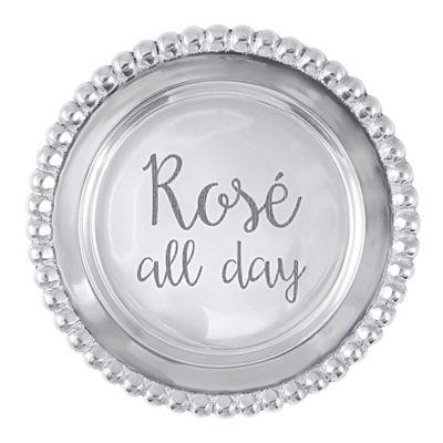 "mariposa ""rose all day"" beaded wine tray"