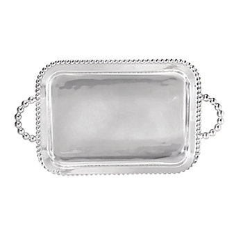 Mariposa String of Pearls Service Tray with Handles