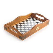 """MacKenzie_Childs_Courtly_Check_Small_Hostess_Tray,_7.25""""_width,_12""""_long"""