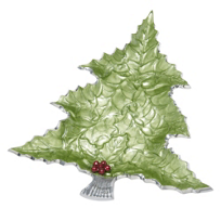 Julia_Knight_Holly_Sprig_Tree_Platter,_16""