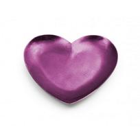 "Mary_Jurek_Symphony_Pink_Orchid_Enamel_Heart_Tray,_7"""