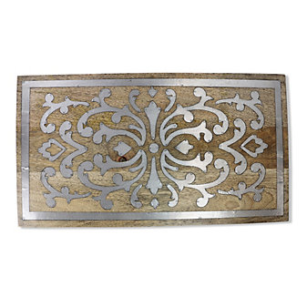 GG Collection Wood & Metal Trivet