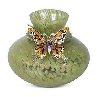 Jay Strongwater Flora Lorelei Butterfly Vase