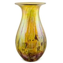 """Glass_Eye_Studio_Desert_Gold_Raindrop_Vase,_7""""_Height"""