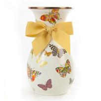 MacKenzie-Childs_Butterfly_Garden_Tall_White_Vase
