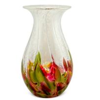 "Glass_Eye_Studio_Tulip_Mosaic_Raindrop_Vase,_7""_Height"