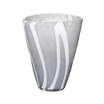 """Viterra Zig Zag Gray Vase, 10"""""""