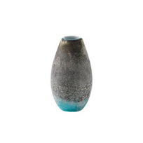 Viterra_Glass_Lava_Earth_Tones_Turquoise_Vase,_11""