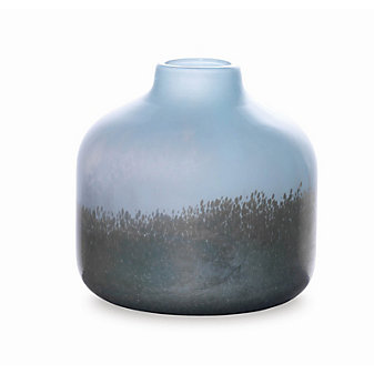 "Viterra Silver Topaz Vase, 9"""