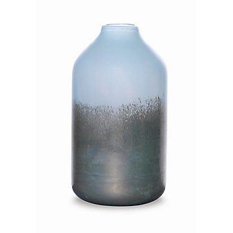 "Viterra Silver Topaz Vase, 12"""
