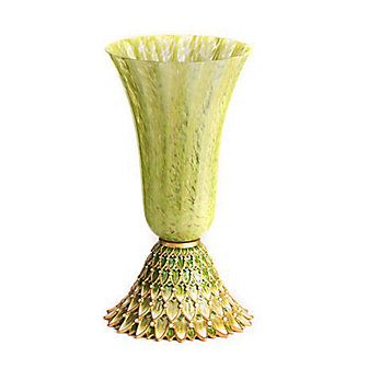 Jay Strongwater Sabrina Feather Vase - Leaf
