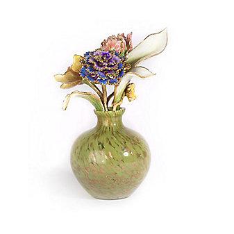 Jay Strongwater Selina Floral Objet Leaf