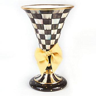 Mackenzie Childs Courtly Check Large Vase