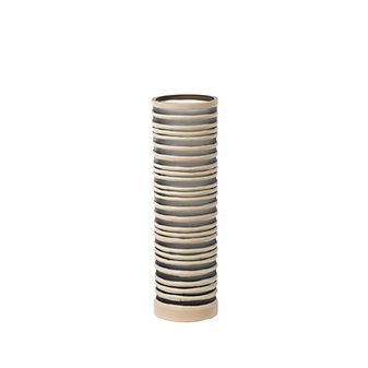 "viterra strata beige 16"" gray camel cut vase"