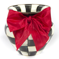 MacKenzie_Childs_Courtly_Check_Large_Vase_Red_Bow
