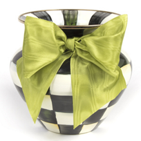 MacKenzie_Childs_Courtly_Check_Large_Vase_Green_Bow