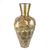 kalalou_brass_hammered_metal_vase,_tall