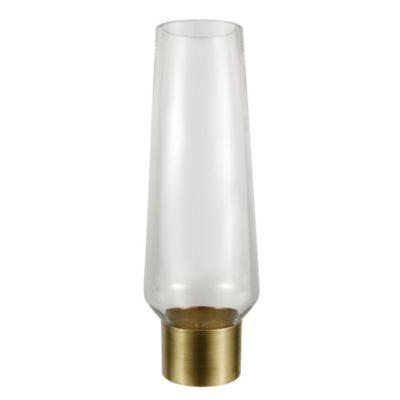 brass cuff vase, tall
