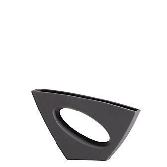 """torre & tagus vector matte grey vase, 14.5"""""""