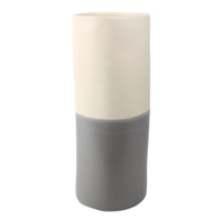 alex_marshall_studios_small_cylinder_vase,_grey_&_matte_white_duo