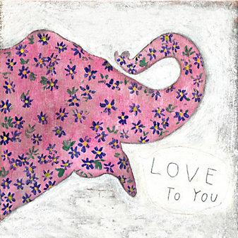 Sugarboo Designs Pink Elephant Print