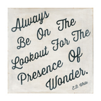 "Sugarboo_Designs_Always_Be_On_the_Lookout_Print,_12""x12"""