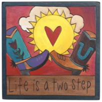 Sticks_Life_is_a_Two_Step_Plaque,_7x7