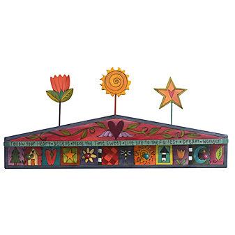 Sticks Flowers & Star Coat Rack