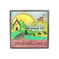 "Sticks_7""_x_7""_Home_Sweet_Omaha_Plaque"