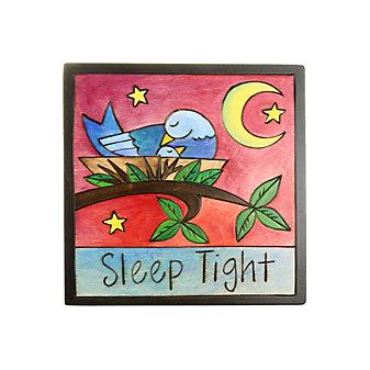 "Sticks 7"" x 7"" Sleep Tight Wood Plaque"