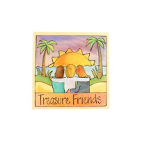 "Sticks_7""_x_7""_Treasure_Friends_Wood_Plaque"