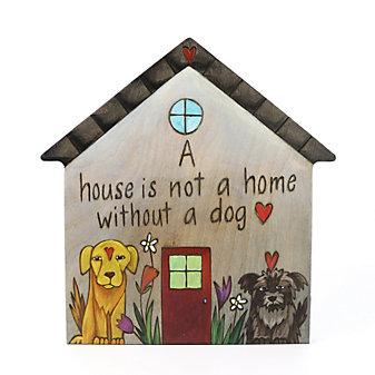"Sticks House Wood 10"" Plaque"