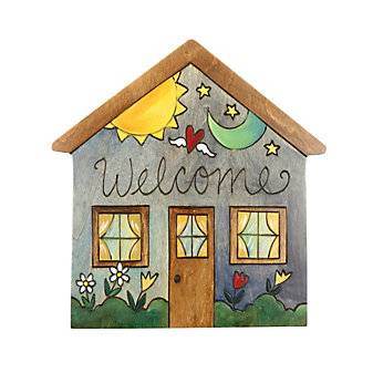 "Sticks Welcome 10"" Wood House Plaque"