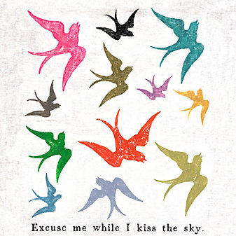 Sugarboo Designs Excuse Me While I Kiss The Sky Art Print, Small