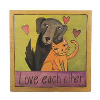 sticks_cat_&_dog_love_each_other_7x7_plaque