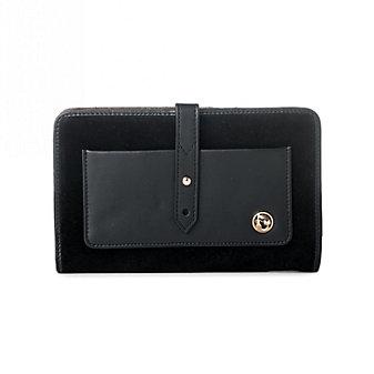 Spartina 449 Suede Snap Wallet, Black