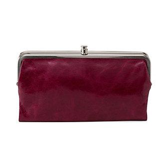 HOBO Lauren Clutch Wallet - Red Plum