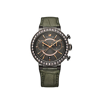 Swarovski Citra Sphere Gun Metal Tone Watch