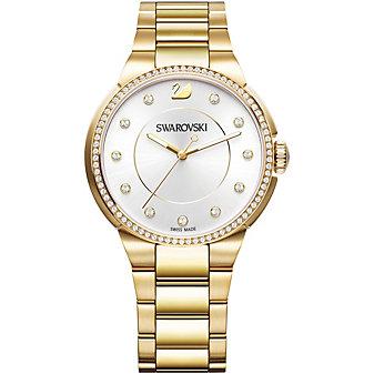 Swarovski City Yellow Gold Tone Bracelet Watch