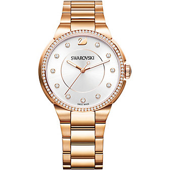 Swarovski City Rose Gold Tone Bracelet Watch