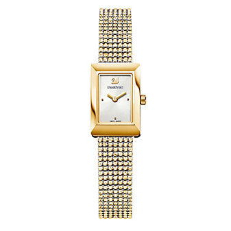 Swarovski Memories Gold-Tone Mesh Women's Bracelet
