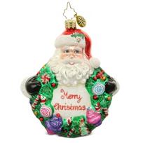 "Christopher_Radko_Sweet_Wreath_Ornament,_5"""