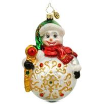 "Christopher_Radko_Snowy_Grace_Ornament,_5.5"""