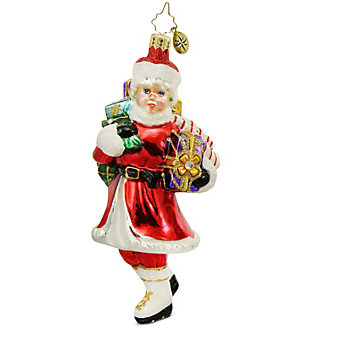 Christopher Radko Skating Mrs. Claus Ornament