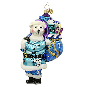 Christopher Radko Polar Bearing Gifts Ornament, 6.5""