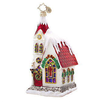 Christopher Radko Ruby Chapel Ornament