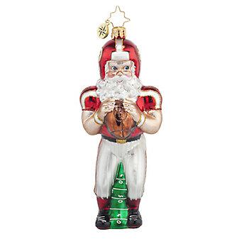 Christopher Radko Touchdown Santa Ornament