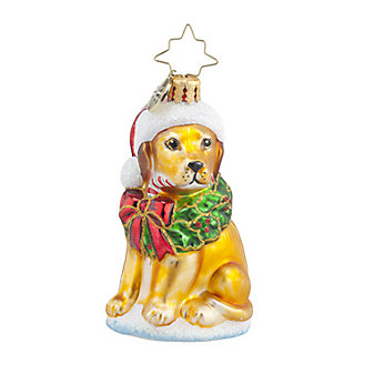 Christopher Radko Labrador Lucky Golden Gem Ornament