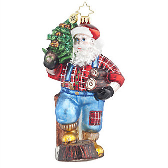 Christopher Radko Mountain Logger Nick Ornament